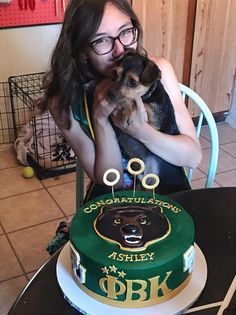 Fondant Baylor graduation cake, complete with Quidditch hoops! #SicEm!