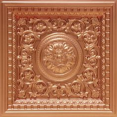 "Decorative Plastic Ceiling Tiles Endearing Da Vinci  Faux Tin Ceiling Tile  Drop In  24""x24""  #215 Inspiration Design"