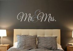 Mr. & Mrs. LARGE-Vinyl Wall Decal Wall Quotes by landbgraphics