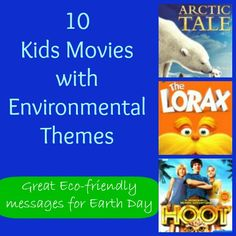 Awesome movies for kids & families with eco-friendly themes