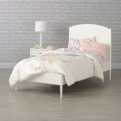 Shop Hampshire White Arched Bed.  The clean, timeless design of our Hampshire White Arched Bed means it'll fit in effortlessly, regardless of what kind of décor is in your kid's room.  The bed has a low footboard design with a classic arched headboard.