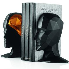Knowledge in the Brain Bookends    These stylish bookends by Karim Rashid will be an outstanding addition to any contemporary home.