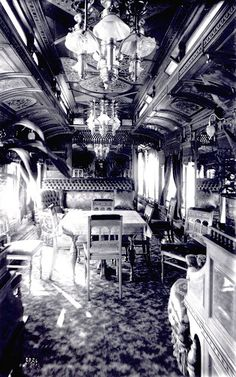 Pullman train cars, the epitome of luxury Palace Cars, Superliners of these), sleeping cars and passenger train cars, These train cars allowed passengers to travel large distances By Train, Train Tracks, Train Rides, Pullman Train, Pullman Car, Locomotive, Old Pictures, Old Photos, Orient Express Train