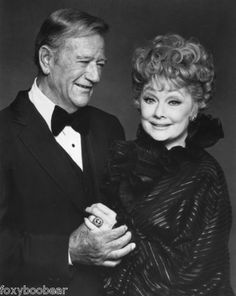 Lucy and John Wayne - what an odd couple but he looks so fondly at her!