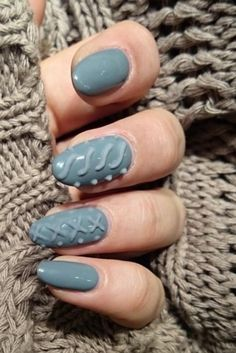 'Sweater Nails' Are Here To Keep You Looking Cozy This Winter