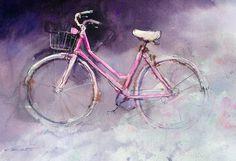 Presenting John Lovett& watercolor paintings Monterey Wharf, John Lovett, Einstein, Simple Subject, National Art, Bicycle Art, Still Life Art, Cycling Art, Leaf Shapes