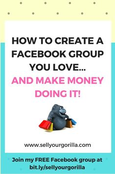 Have you been thinking of starting a Facebook group....but you're not sure it's right for you?   OR  Do you already have a group and it's not quite what you thought it would be?  #sellyourgorilla  #facebookgroups    Either way....www.sellyourgorilla.com can help!  Join my FREE Facebook group at What You Think, Things To Think About, Free Facebook, Facebook Marketing, Thinking Of You, How To Make Money, Join, Engagement, Thoughts