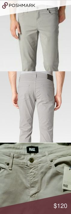 Mens Paige denim Normandie flint jean Net paige denim jean in a light grey wash 32x34 PAIGE Jeans Straight