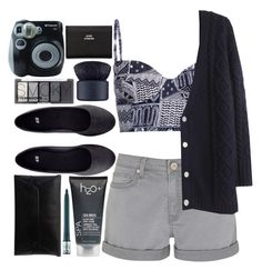 """smoky blues"" by ohkaaty ❤ liked on Polyvore featuring H2O+, Mara Hoffman, Mint Velvet, Band of Outsiders, H&M, Polaroid, Acne Studios, NARS Cosmetics, Marc by Marc Jacobs and tarte"