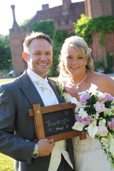 The Happy Couple at Leez Priory Wedding Venue