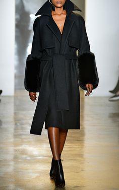 Wool Felt Coat by Cushnie et Ochs for Preorder on Moda Operandi