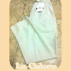 🆕- LIZ CLAIRBORNE BEIGE PANTS 🆕 NWT  LIZ CLAIRBORNE BEIGE PANTS             SIZE 4 PETITE             ORIGINALLY $77.00 Liz Claiborne Pants