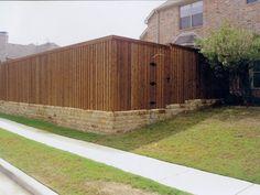 Dallas Fence Work by http://longhornarborandfence.com/dallas-fence-services/flagstone-dallas/