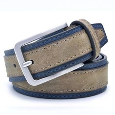 6933047ca0274 Casual Patchwork Men Designers Belt. Faux Leather BeltsFashion ...