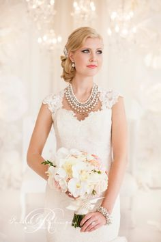 This type of sleeve would be easy to add to a sweetheart strapless gown in lace or other fabric.