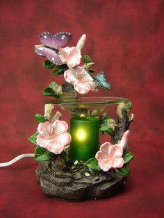 Electric Oil Wax Burner Warmer Diffuser. Great Gift Idea and Decor! http://mkt.com/pure-oils/m-butterflies #oils #waxtart #warmer #Wax #burner #homedecor #flowers #butterfly #lamp #Soywax #tart #giftideas