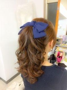 Kawaii Hairstyles, Pretty Hairstyles, Wig Hairstyles, Ribbon Hairstyle, Hair Arrange, Mein Style, Aesthetic Hair, Gorgeous Hair, Hair Looks