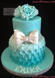 How To Make A Layered Petal Cake. MpM: Excellent tutorial, beautiful cake. Any teen girl would love this for a birthday cake.