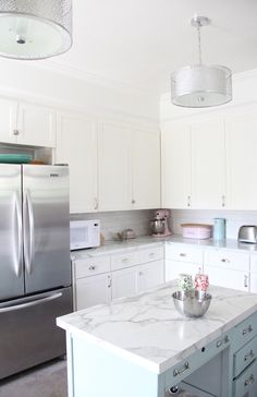 House of Turquoise: Lesli DeVito of My Old Country House :: white kitchen