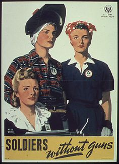 """""""Soldiers without Guns"""" WWII propaganda poster"""