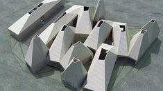 IwamotoScott, Study Houses, Ordos, and Parametricism - postarchitectural Maquette Architecture, Architecture Model Making, Architecture Sketchbook, Architecture Design, Mongolia, Uganda, Mos Architects, Solar Chimney, Axonometric View