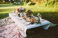 y en el cesped...un picnic!