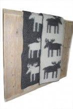 Klippan wollen deken met eland antraciet/wit