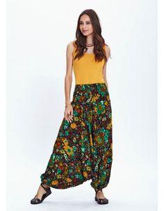 This item is unavailable Boho Summer Dresses, Boho Skirts, Summer Skirts, Wide Leg Trousers, Trousers Women, Pants For Women, Bohemian Pants, Drop Crotch Pants, Pants Pattern