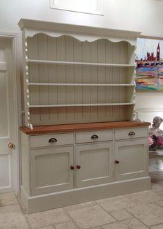 Solid Pine Welsh Dresser Sideboard Kitchen Unit