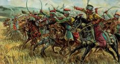 Charge of the French Mamelukes at Austerlitz- by Giuseppe Rava
