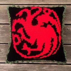 What do dragons eat? Well, they prob eat sheep! Without sheep we wouldn't have yarn! And without yarn we can't crochet! Man, dragons are cool but crochet is cooler. Single Crochet Stitch, Double Crochet, Crochet Pillow, Crochet Stitches, Crochet Batman, Disney Crochet Patterns, Hbo Game Of Thrones, Pattern Books, Sheep