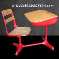 Restored furniture: Vintage School Desk - Eve of Reduction