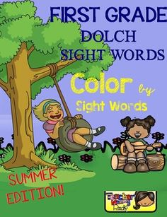 Create a book with this 13 Color by Sight Word pages using all the 41 First Grade Dolch Sight Words.