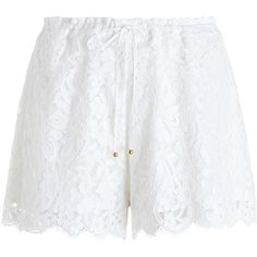 Designer Clothes, Shoes & Bags for Women Lace Drawing, White Lace Shorts, Scalloped Edge, Short Shorts, Polyvore, Accessories, Outfits, Clothes, Fashion