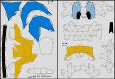 Donald Duck Foldable Papercraft