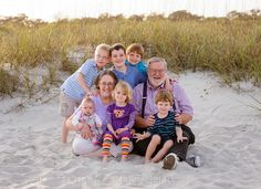 Grandparents with all the grandkids - Myrtle Beach State Park by Ryan Smith Photography, via Flickr
