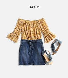 MUST.  HAVE.  THIS.  All of it.  But most importantly the skirt.  I desperately need a new cute short jean skirt....