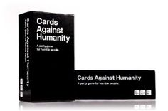 Cards Against Humanity: Funniest Adult party game I've ever seen!!!  This is the adult (dirty) version of Apples to Apples.  Got 1st expansion and the original with free shipping.