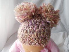 Hat Baby  Crochet  Pom Pom Hat by ShelleysCrochetOle on Etsy, $8.00