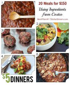 20 Meals for $150 Meal Plan #1 from 5DollarDinners.com
