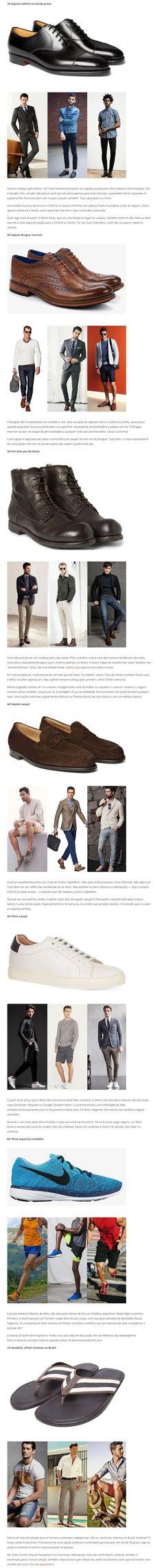 Tipos de sapatos que todo homem precisa ter