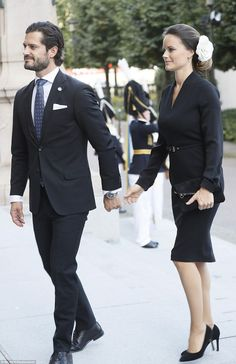 King Carl Gustaf, Queen Silvia, Crown Princess Victoria, Prince Daniel, Prince Carl Philip, Princess Sofia and Princess Madeleine of Sweden attended a service at the Church of St. Nicholas (Storkyrkan) in connection with the opening of the parliamentary session on September 13, 2016 in Stockholm, Sweden.
