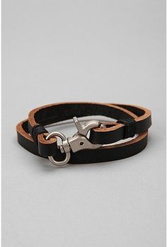 Men's bracelet from Urban Outfitters. I like the clasp idea and could maybe recreate it myself.