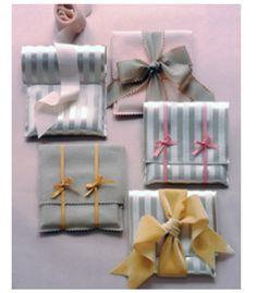 "See the ""Fabric Envelopes"" in our Gift-Wrapping Ideas gallery. Personalize small gifts by slipping them into delightful hand-stitched pouches. Present Wrapping, Creative Gift Wrapping, Creative Gifts, Wrapping Ideas, Creative Ideas, Christmas Gift Wrapping, Christmas Gifts, Christmas Recipes, Gift Wrapping Techniques"
