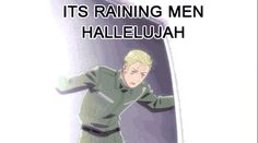 Hetalia Gifs - It's raining men! :D