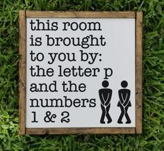 This room is brought to you by sign wood signs toilet bathroom decor bathroom sign funny sign farmhouse decor half bath rustic Wood Bathroom, Bathroom Humor, Downstairs Bathroom, Bathroom Signs, Small Bathroom, Bathroom Ideas, Master Bathroom, Restroom Signs, Bathroom Quotes