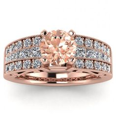 Piece Info: - 14K Rose Gold - Comfort Fit - Hypoallergenic, Cobalt-Free - Sleek Design - Durable - Comes in a Gift box #14k #Rose #Gold #Khloe #Morganite #And #Diamond #Princess #Cut #Ring #Vintage #Design #Triple #Row #Pave #Low #Profile #Center #Gemstone #14k #morganite #ring #rose #gold #engagement #wedding #ring #engagement #ring #rose #gold #morganite #morganite #ring #morganite #engagement #Cushion #Shaped #Halo #Filigree #hand #Engraved #Band #Unique Princess Cut Rings, Princess Cut Diamonds, Morganite Ring, Morganite Engagement, Ring Engagement, Meteorite Ring, Vintage Style Engagement Rings, 18k Rose Gold, Wedding Ring Bands