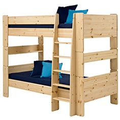 @Overstock - Materials: Nordic pine  Finish: Natural wood   Can be separated into two Popsicle twin beds   http://www.overstock.com/Home-Garden/Popsicle-Natural-Bunk-Bed/6335968/product.html?CID=214117 $671.99