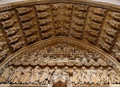 Metz, St. Stephan's Cathedral, Portal of the Virgin, tympanum
