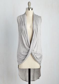 Chic by Example Top. Your proclivity for being a fashion pioneer is completely indulged with every wear of this grey top. #grey #modcloth